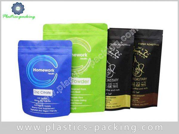 Gold Metallic Foil Stand Up Ziplock Bag Manufacture 410