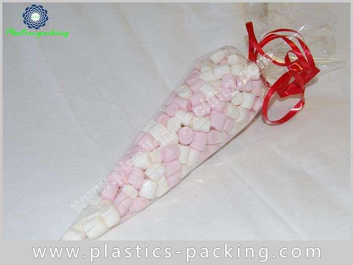 High Transparent BOPP Cone Shaped Skinny Treat Bag 057