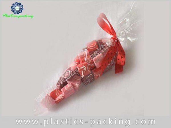 High Transparent BOPP Cone Shaped Skinny Treat Bag 058