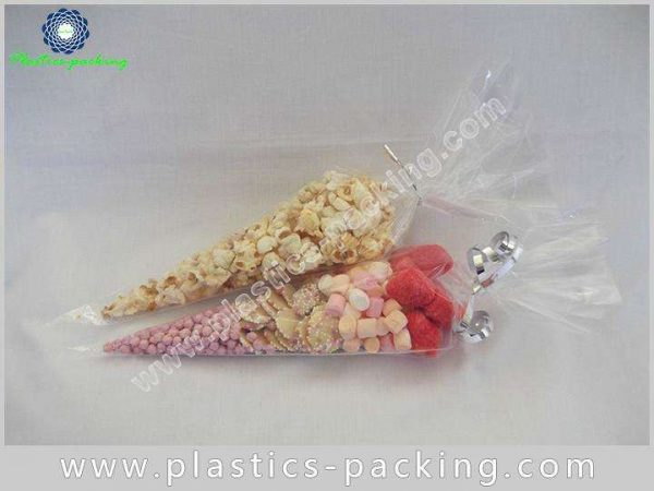 High Transparent BOPP Cone Shaped Skinny Treat Bag 059