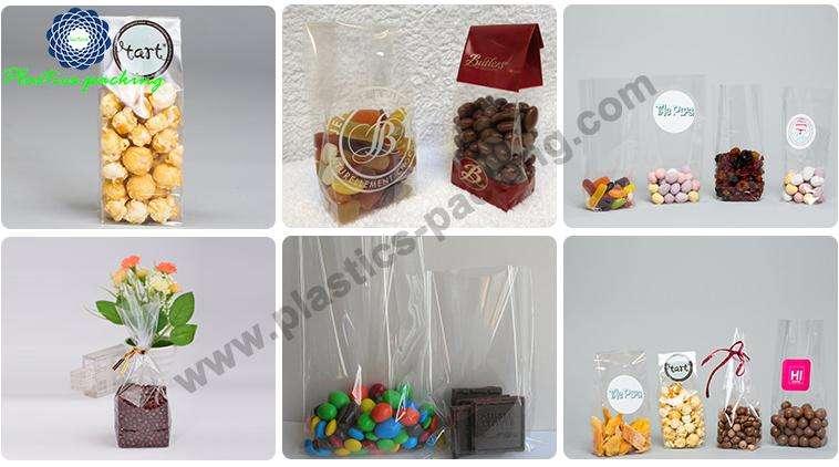 Highly Transparent Block Bottom Biscuits Bags Manufacturer 340 1