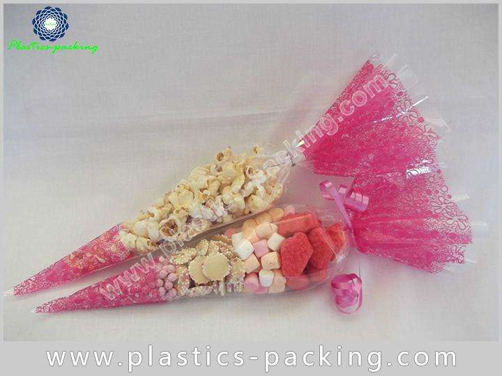 Hot Chocolate OPP Cones Bags Candy Buffet Cone yyth 044