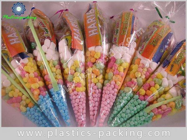 Hot Chocolate OPP Cones Bags Candy Buffet Cone yyth 047