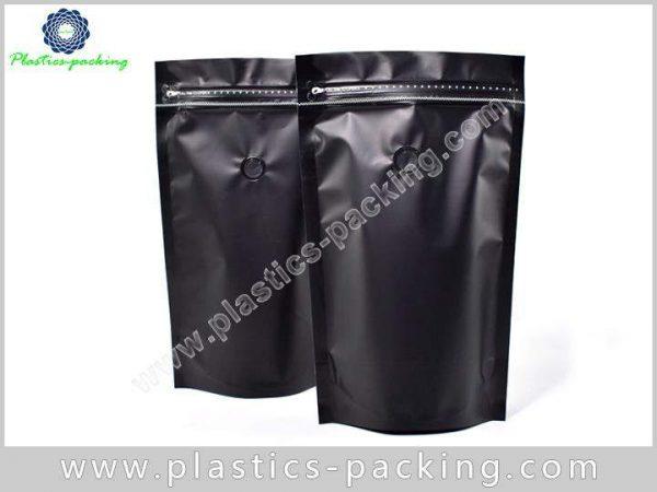 Matt Black Stand Up Zipper Coffee Pouch Manufacture 248