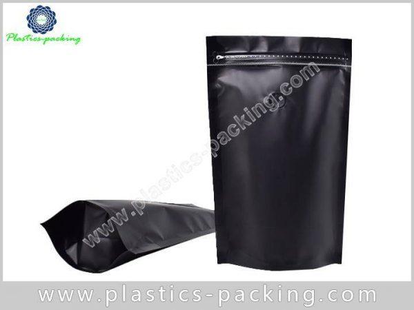 Matt Black Stand Up Zipper Coffee Pouch Manufacture 249