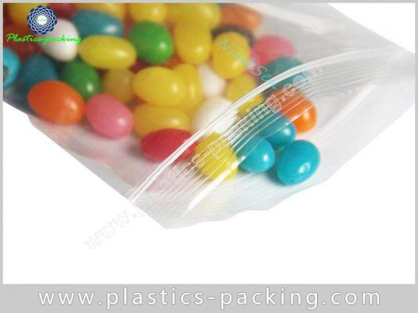Medical PE Zipper Pouch A Variety Of Printing Colours100 Micron Milky White PE Grip Seal Bags 8