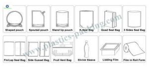 Moisture Proof Feature Stand Up Zipper Pouch and yy 0796