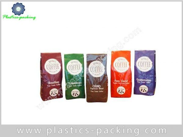 Moisture Proof Zipper Coffee Bags Plastic Stand Up 218 1
