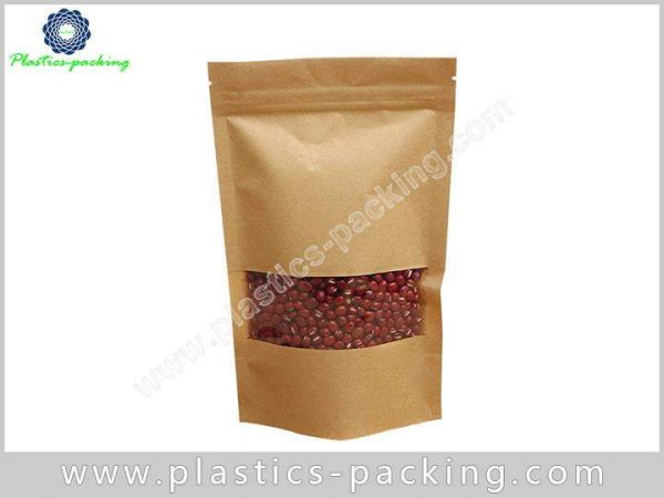 Multi Printed Colored Stand Up Kraft Paper Zipper y 092