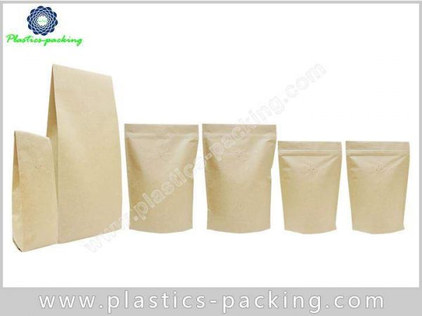 Nuts Kraft Paper Standing Up Zipper Pouch Food yyth 074