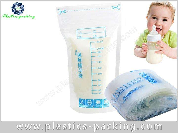 OEM Plastic Zipper Breast Milk Fresh Storage Bag yy 041