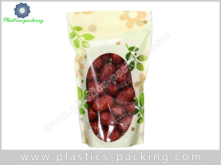 Oval Clear Window Stand Up Ziplock Bags Manufacture 311