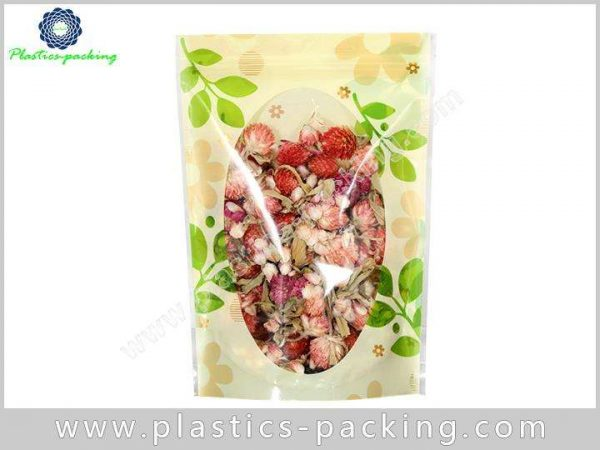 Oval Clear Window Stand Up Ziplock Bags Manufacture 312