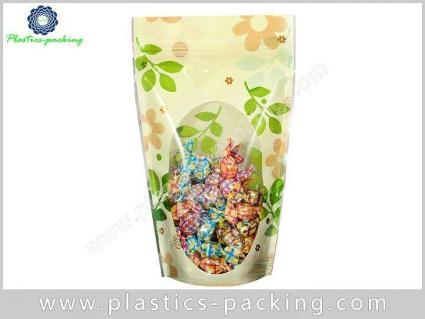Oval Clear Window Stand Up Ziplock Bags Manufacture 313