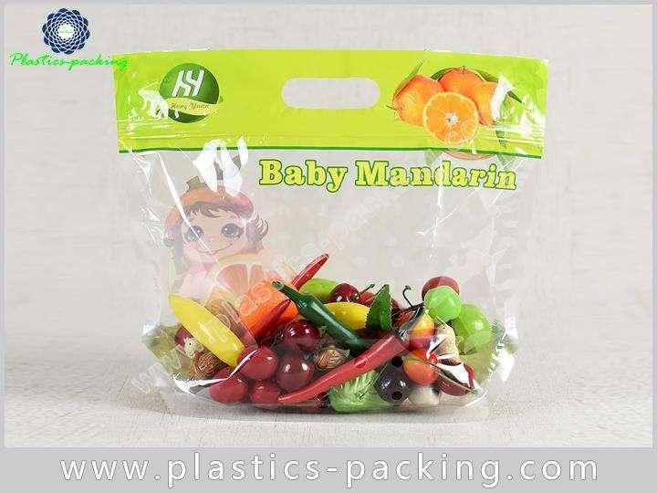 PP Slider Ziplock Fruit Packaging Bags With Holes y 017