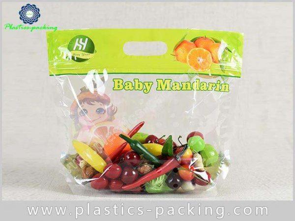 PP Slider Ziplock Fruit Packaging Bags With Holes y 022