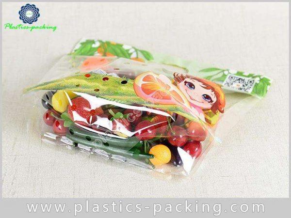 PP Slider Ziplock Fruit Packaging Bags With Holes y 023
