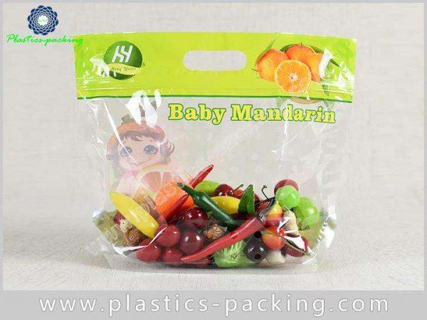 PP Slider Ziplock Fruit Packaging Bags With Holes y 024