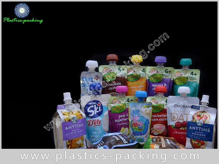 Plastic Beverage Spout Pouch Stand Up Juice yythk 157