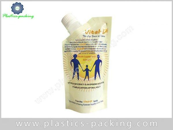 Plastic Beverage Spout Pouch Stand Up Juice yythk 158