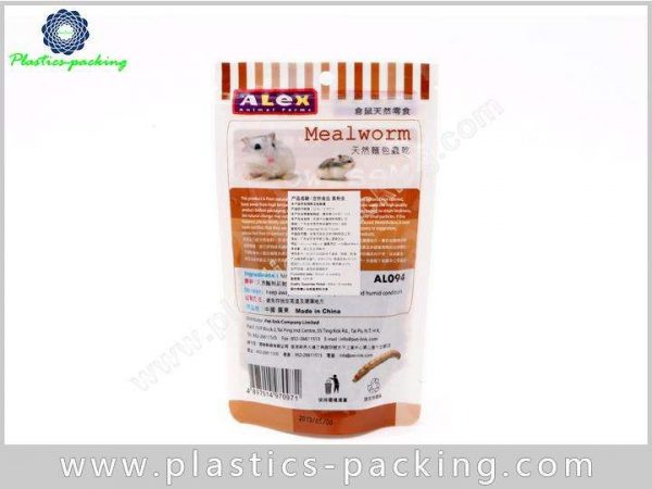 Plastic PE AL PET Resealable Small Pet Food Bags Food Safe Plastic Pet Food Bags 8