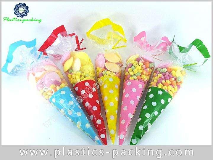 PopCorn OPP Cone Cellophane Bags Gravure Printing C 034