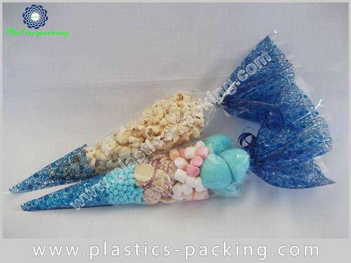 Printed BOPP Shaped Cone Packaging Bags High Transp 027