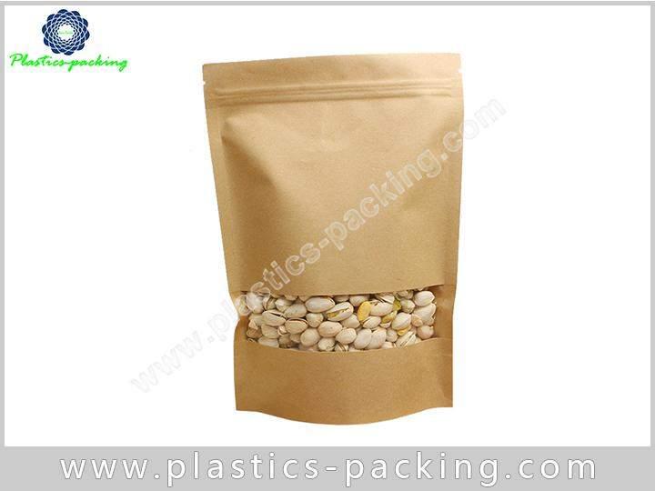 Printed Kraft Paper Zipper Bags Food Packaging Stan 059