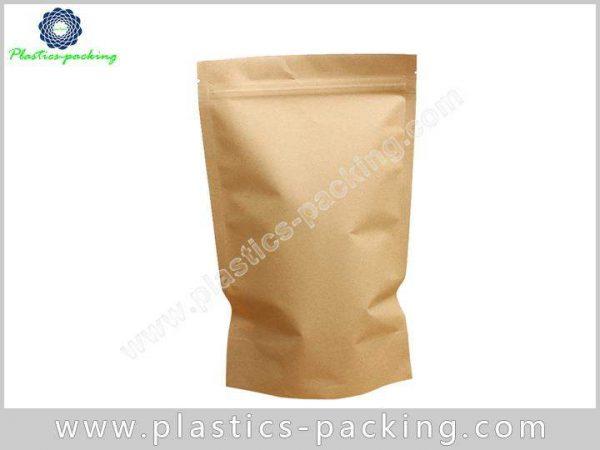 Printed Kraft Paper Zipper Bags Food Packaging Stan 062