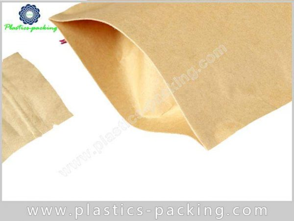 Printed Kraft Paper Zipper Bags Food Packaging Stan 063