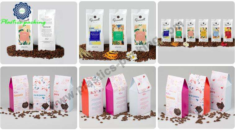 Printed Red Coffee Bags with Side Gusset Gravure yy 135