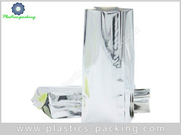 Printed Silver Heat Seal Coffee Packaging Bags Side 117