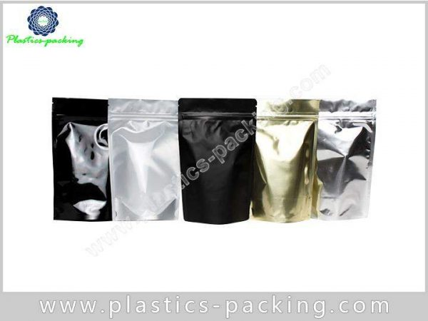 Printed White 250g Aluminium Foil Packaging Zipper 0919