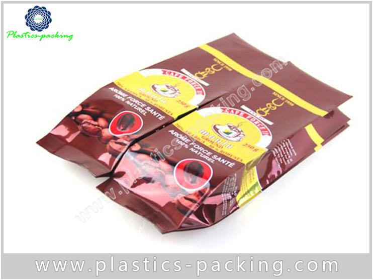 Quad Seal Coffee Bag Matt Or Varnish Printing yyth 098