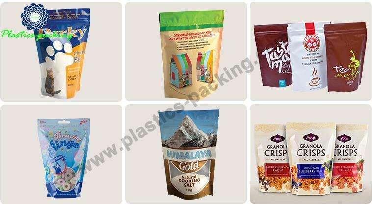 Self Standing Snack Food Plastic Ziplock Bags with 1028