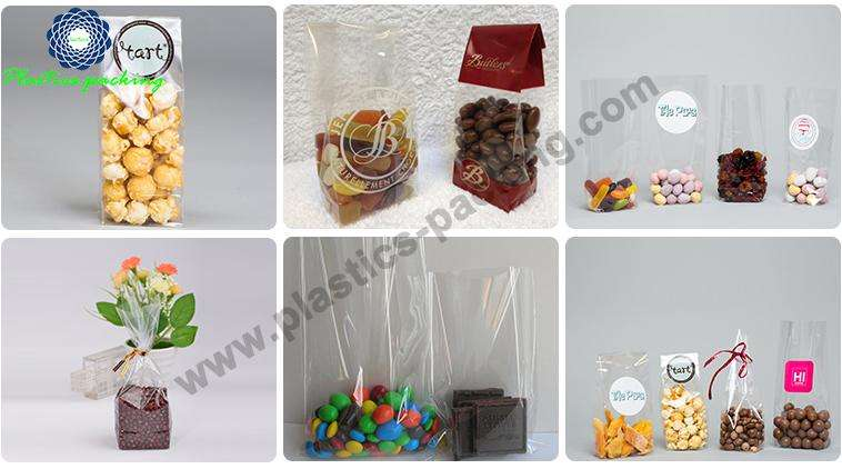 Side Gusset Block Bottom Bags Clear Plastic OPP yyt 085 1
