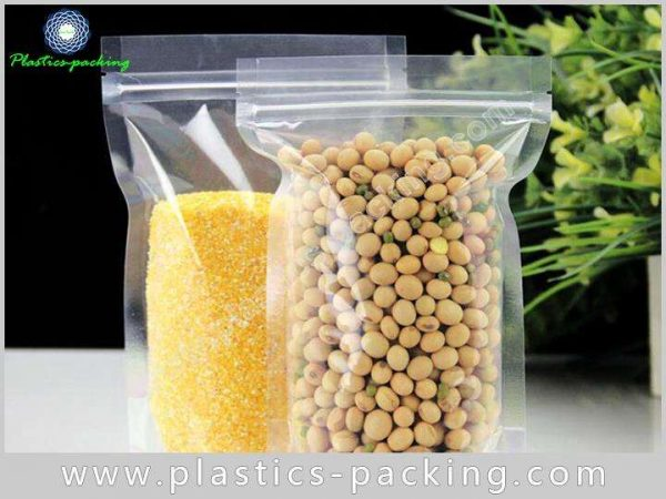 Silver Stand Up Bags Ziplock Pouches Manufacturers 195