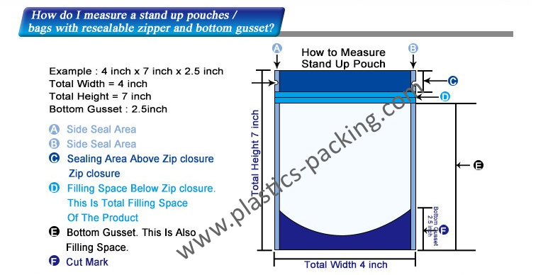 Stand Up Bags Zip Lock Mylar Pouches Manufacturers 1092