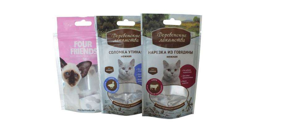 Stand Up Plastic With Zipper Pet Food Bags For Dog Cat Food Packaging 6