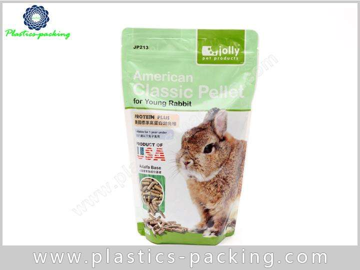Stand Up Plastic With Zipper Pet Food Bags For Dog Cat Food Packaging 8