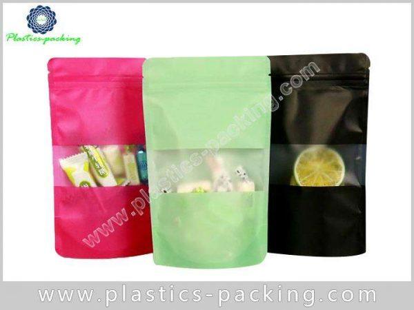 Stand Up Zipper Bag With Rectangular Window Manufac 088