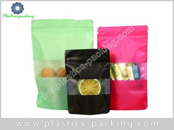 Stand Up Zipper Bag With Rectangular Window Manufac 089