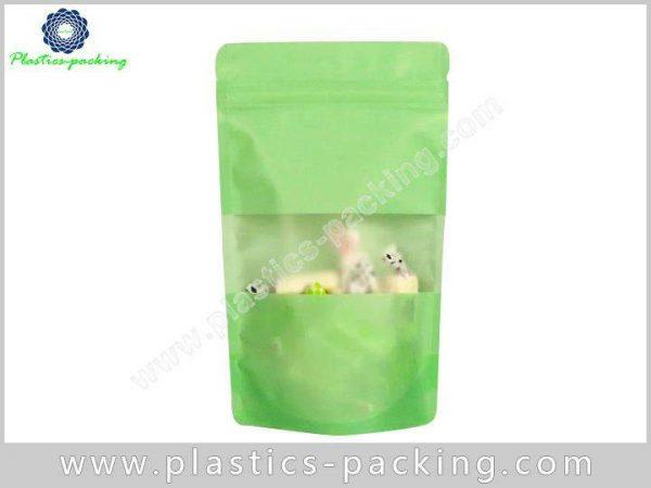 Stand Up Zipper Bag With Rectangular Window Manufac 090