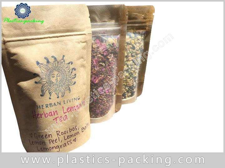 Tea Leaves Kraft Paper Bag with Window 150g 027