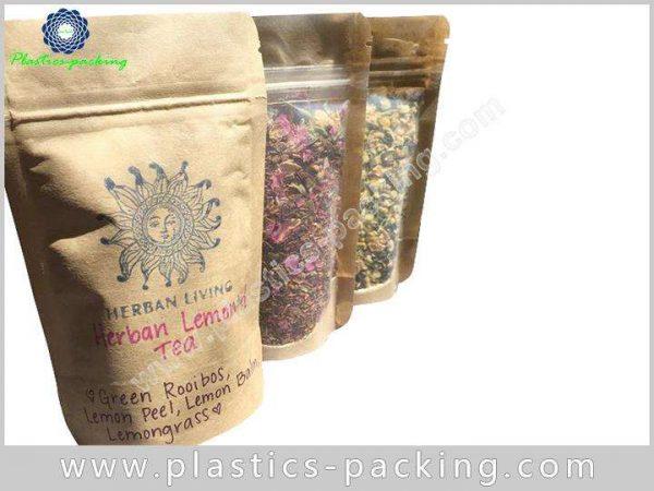 Tea Leaves Kraft Paper Bag with Window 150g 028