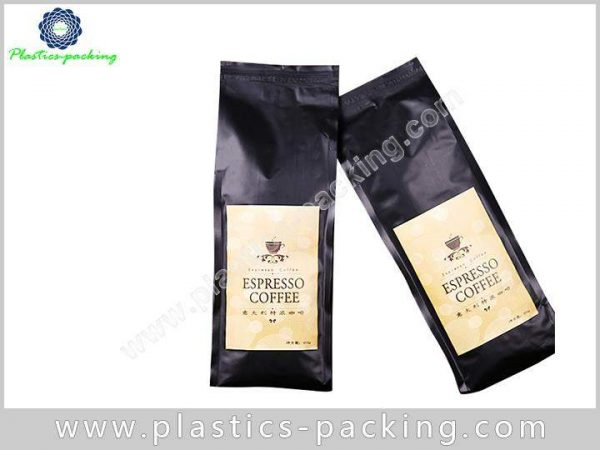 TinTie Side Gusset Printed Matte Black Coffee Pouch 043