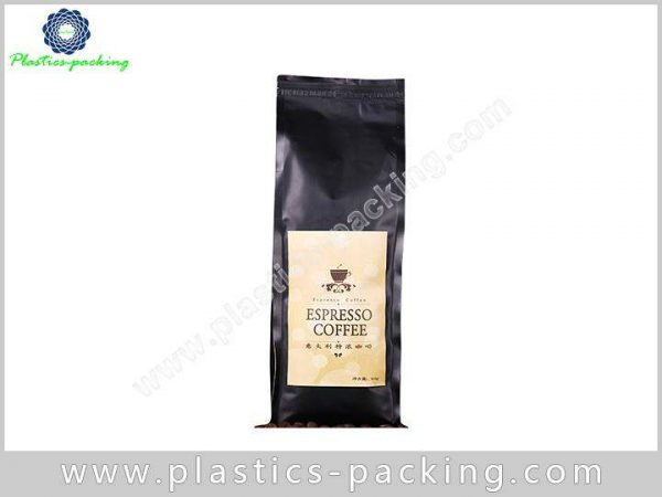 TinTie Side Gusset Printed Matte Black Coffee Pouch 044
