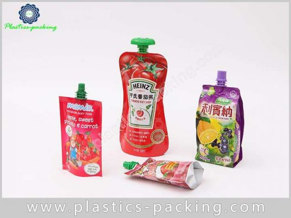 Tomato Sauce Spout Bag Customized Stand Up Spout yy 016