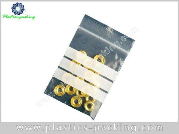 Transparent Reclosable Plastic Bag 3x5 4 Mil Zip Lock Pouch Plastic Zippered Storage Pouch 4