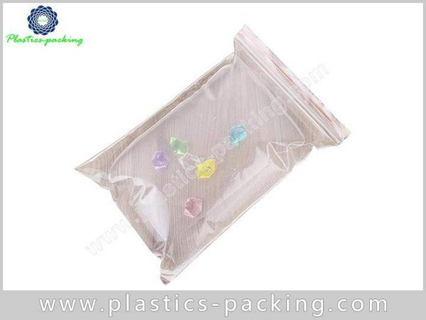 With Hang Hole PE Recloseable Pouch White Slider Zipper Bag PE Pouch 1